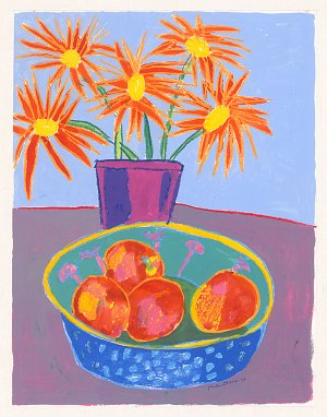 flowers and tangerines
