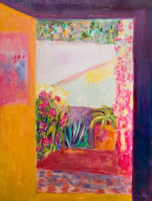 Looking out the kitchen door on a Bonnard afternoon